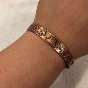 Vintage Bell Trading Post Copper Cuff Bracelet